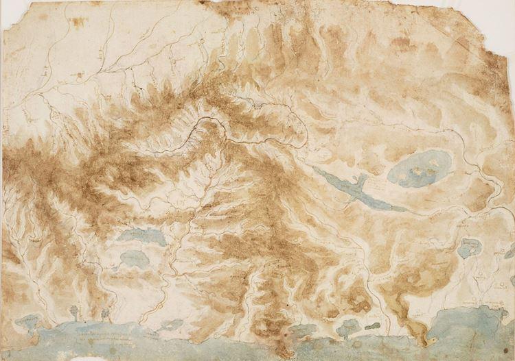 Arno vadisi ve çevresi haritası, 1503-1504 dolayları picture