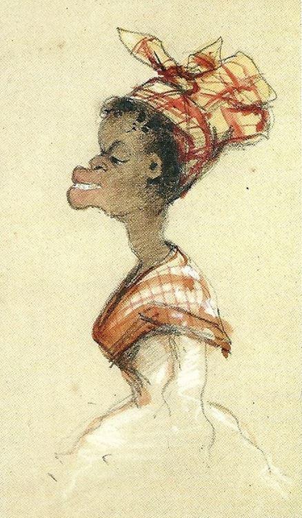 Eşarplı Siyahi Kadın, 1857 picture