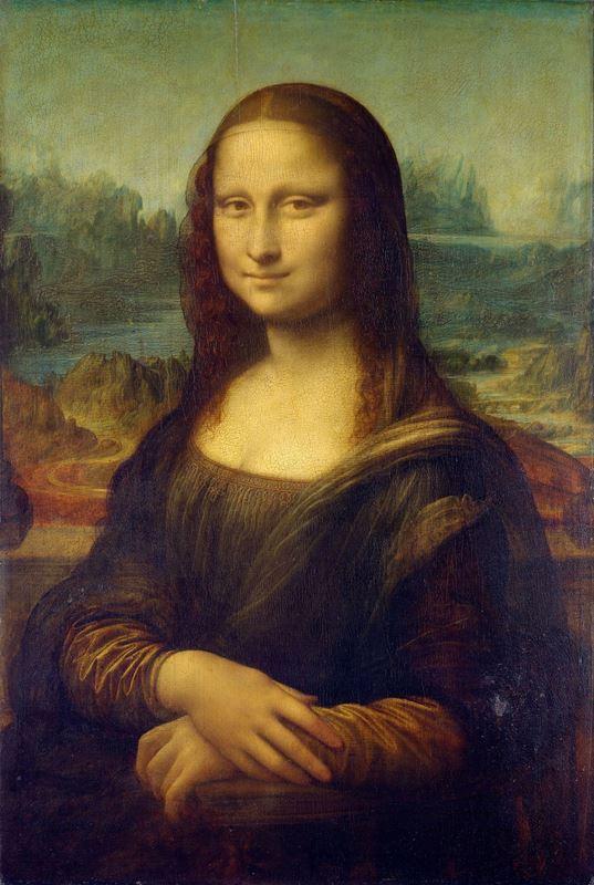 Mona Lisa (Lisa del Giocondo'nun Portresi), 1503-1506 dolayları, Ahşap üzerine yağlıboya, 77 x 53 cm, Musée du Louvre, Paris, Fransa.