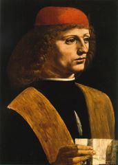 Bir Müzisyenin Portresi, 1490, Ahşap üstüne yağlıboya, 45 x 32 cm, Pinacoteca Ambrosiana, Milan, İtalya.