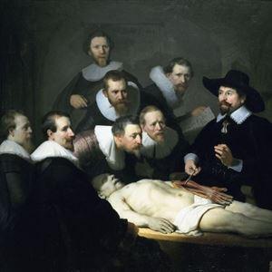 Picture of Dr. Nicolaes Tulp'un Anatomi Dersi - Rembrandt van Rijn