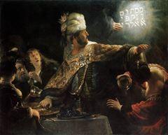 Belshazzar'ın Ziyafeti, 1636-1638, Tuval üzerine yağlıboya, 167.6 x 209.2 cm, The National Gallery, London, İngiltere.