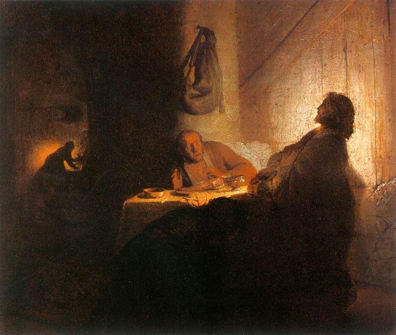 Emmaus'ta Akşam Yemeği, 1628-1629 resmi