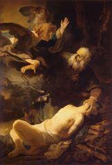 Isaac'ın Kurban Edilişi, 1635, Tuval üzerine yağlıboya, 193 x132 cm, Hermitage Museum, St. Petersburg, Rusya.