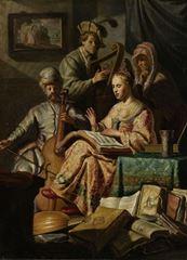 Müzikal Alegori, 1626, Panel üzerine yağlıboya, 63.5 x 48 cm, Rijksmuseum, Amsterdam, Hollanda.