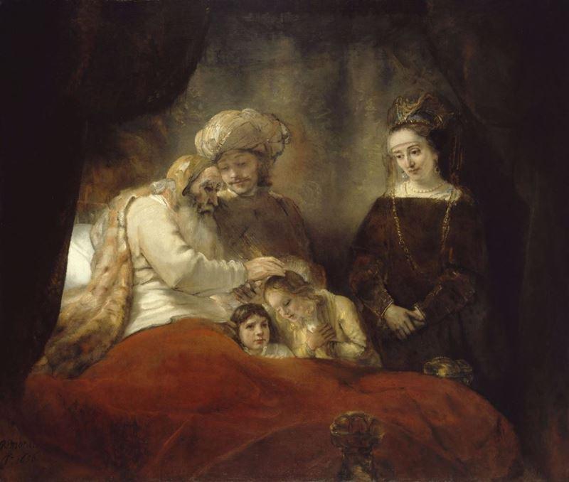 Yusuf'un Oğullarını Kutsayan Yakup, 1656 resmi