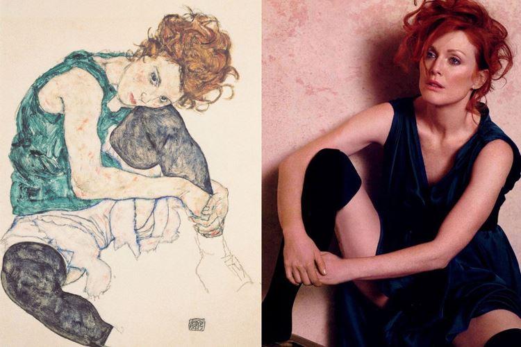 Dizi bükük oturan kadın, 1917 / Egon Schiele picture