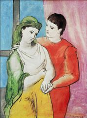 Aşıklar, 1923, Tuval üzerine yağlıboya, 130.2 x 97.2 cm, National Gallery of Art, Washington, ABD.