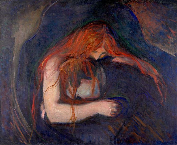 Edvard Munch, Vampir / (Aşk ve Acı), 1895 picture