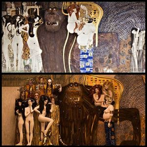 Picture of Gustav Klimt's Paintings Revitalization with photo shoots.