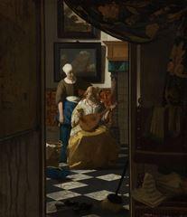 Aşk Mektubu, 1669-1670 dolayları, Tuval üzerine yağlıboya, 44 x 38.5 cm, Rijksmuseum, Amsterdam, Hollanda.