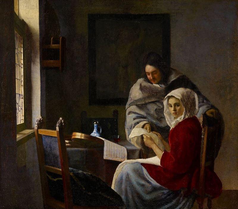 Müziğe Ara Vermiş Genç Kız, 1658-1659 dolayları resmi