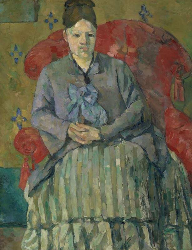 Kırmızı Koltukta Madam Cézanne, 1877 dolayları resmi