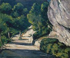 Manzara. Kayalık Dağlarda Ağaçlı Yol, 1870-1871