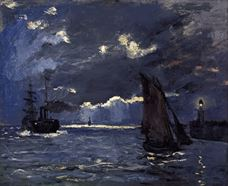 Show Shipping by Moonlight, c.1864 details