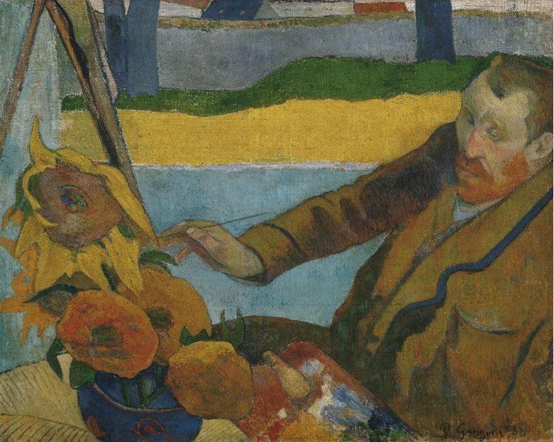 Vincent van Gogh Ayçiçekleri Resmini Yaparken, 1888 resmi