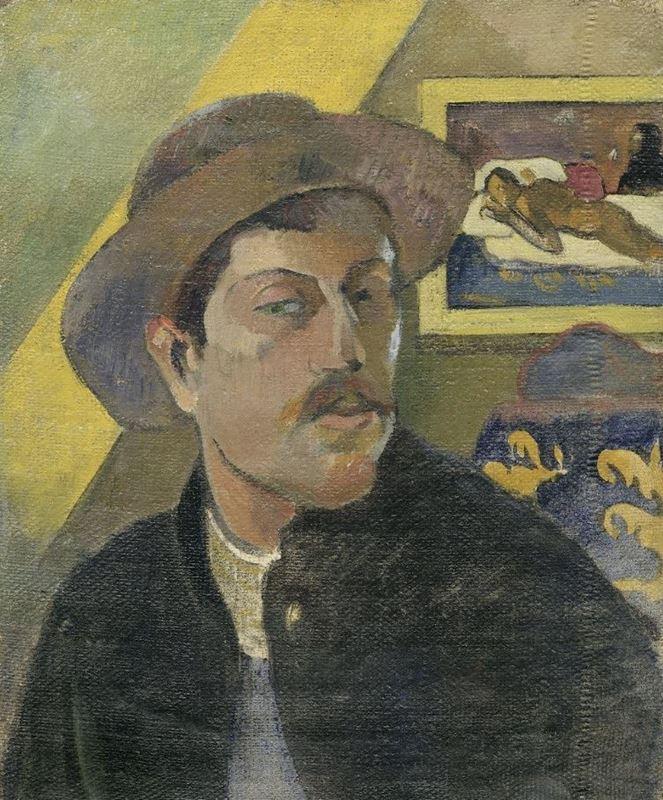 Şapkalı Otoportre, 1893-1894 resmi