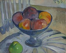 Show Fruit Dish on a Garden Chair, c. 1890 details
