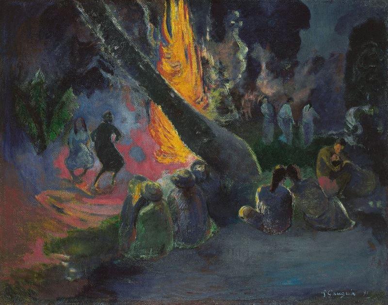 Ateş Dansı, 1891 resmi