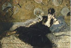 Yelpazeli Kadın, 1873, Tuval üzerine yağlıboya, 113.5 x 166.5 cm, Musée d'Orsay, Paris, Fransa.