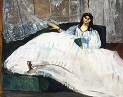 Yelpazeli Kadın, 1862, Tuval üzerine yağlıboya, 89.5 × 113 cm, Museum of Fine Arts, Budapest, Macaristan.