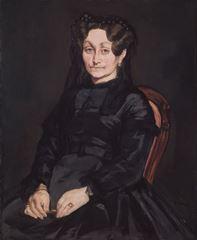 Bayan Auguste Manet'nin Portresi, 1863, Tuval üzerine yağlıboya, , 98 x 80 cm, Isabella Stewart Gardner Museum, Boston, ABD.
