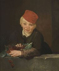Show Boy with Cherries, c. 1858 details