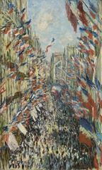 Paris'teki Rue Montorgueil. 30 Haziran 1878 kutlamaları, 1878, Tuval üzerine yağlıboya, 81 x 50 cm, Musée d'Orsay, Paris, Fransa.