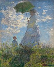 Show Woman with a Parasol, Madame Monet and Her Son, 1875 details