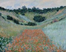Show Poppy Field in a Hollow near Giverny, 1885 details