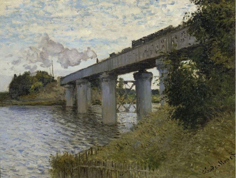 Argenteuil'de Demiryolu Köprüsü, 1873 resmi