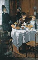 Öğle Yemeği, 1868-1869, Tuval üzerine yağlıboya, 231.5 × 151 cm, Städel Museum, Frankfurt, Almanya.