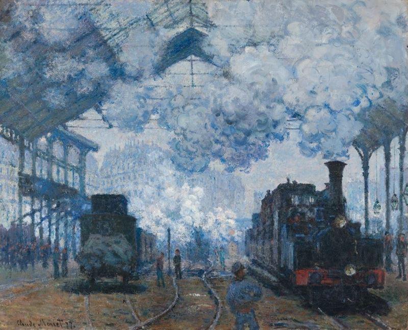Saint-Lazare Garı, Bir Trenin Varışı, 1877 resmi