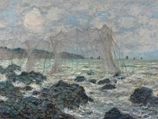 Show Fishing nets at Pourville, 1882 details