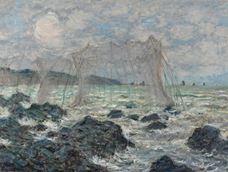 Pourville'de Balık Ağları, 1882