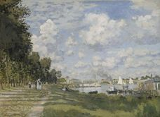 Show The Harbour at Argenteuil, c.1872 details