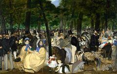 Tuileries Bahçeleri'nde Konser, 1862, Tuval üzerine yağlıboya, 76.2 x 118.1 cm, The National Gallery, London, İngiltere.