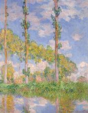 Güneşte Kavaklar, 1891