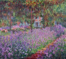 Monet'nin Bahçesinde Süsenler, 1900
