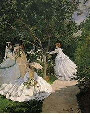 Show Women in the Garden, c.1866 details