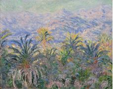 Show Palm Trees at Bordighera, 1884 details