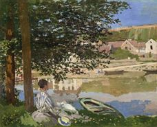 Show On the Bank of the Seine, Bennecourt, 1868 details