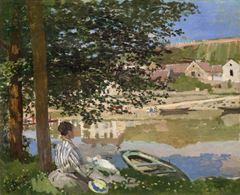 Dere Kıyısında, Bennecourt, 1868, Tuval üzerine yağlıboya, 81.5 x 100.7 cm, The Art Institute of Chicago, Chicago, ABD.