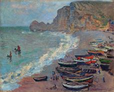 Show The Beach at Etretat, 1883 details