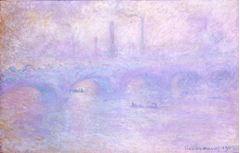 Siste Waterloo Köprüsü, 1903, Tuval üzerine yağlıboya, 65.3 x 101 cm, Hermitage Museum, St. Petersburg, Rusya.