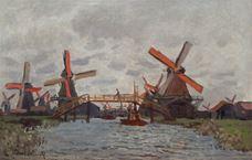 Show Windmills near Zaandam, 1871 details