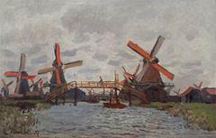 Zaandam Yakınında Yel Değirmeni, 1871, Tuval üzerine yağlıboya, 48.3 cm x 74.2 cm, Van Gogh Museum, Amsterdam, Hollanda.