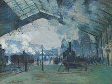 Saint-Lazare Garı, Normandiya Treninin Varışı, 1877