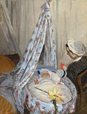 Beşik-Sanatçının Oğlu Jean ile Camille,  1867