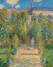 Vétheuil'de Monet'nin Bahçesi, 1880